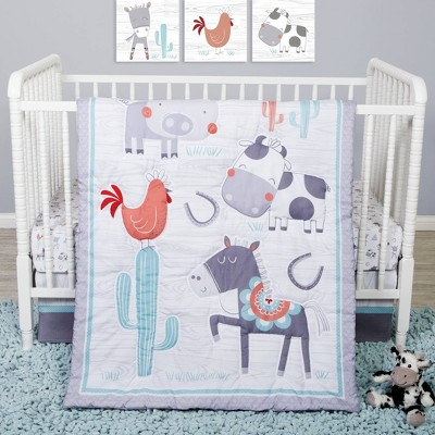 Sammy and Lou Farmstead Friends Crib Bedding Set - 4pc