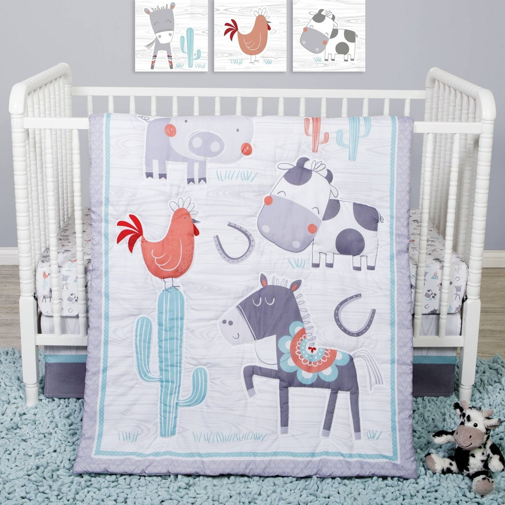 Image of Sammy and Lou Farmstead Friends Crib Bedding Set - 4pc