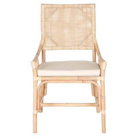 Dining Chair Wood/Brown/White - Safavieh® - image 1 of 4