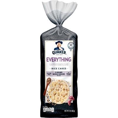 Quaker Large Rice Cake Everything - 5.9oz