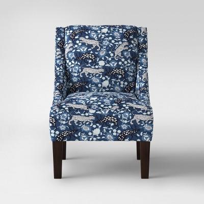 Hudson Swoop Arm Chair   Leopard Blue   Threshold™
