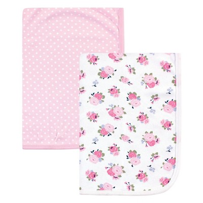 Luvable Friends Baby Girl Cotton Swaddle Blanket, Floral, One Size