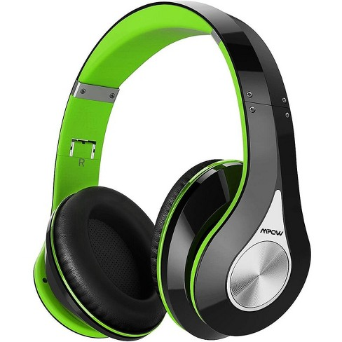 Mpow 059 Bluetooth Headphones Over Ear Foldable Soft Memory Protein Earmuffs W Built In Mic Wired Mode Hi Fi Stereo Wireless Headset For Online Class Home Office Pc Cell Phones Tv Black Green Target