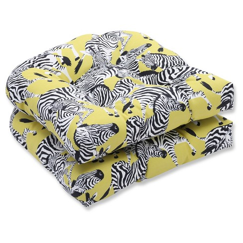 Pillow Perfect Herd Together Wasabi Outdoor Cushion Set - Yellow - image 1 of 1