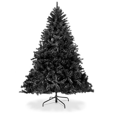 Best Choice Products 7.5ft Artificial Full Black Christmas Tree Holiday Decoration w/ 1,749 Branch Tips, Foldable Base