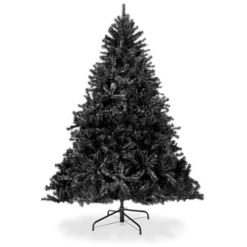 Best Choice Products 7.5ft Artificial Full Black Christmas Tree Holiday Decoration w/ 1,749 Branch Tips, Foldable Base - image 1 of 4