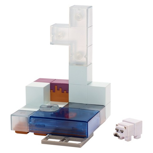 Minecraft Mini Figure Environment Polar Bear Hunting Fish Playset - image 1 of 3