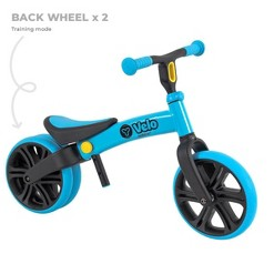 Yvolution Y Velo Junior Toddler No Pedals Balance Bike for Ages 18 Months to 4 Years - Blue, Kids Unisex