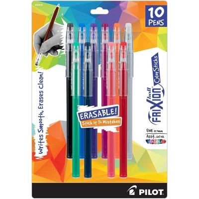 Pilot 10ct FriXion Erasable ColorSticks Gel Ink Pens Fine Point 0.7mm