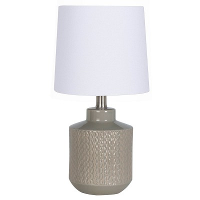 Pattern Ceramic Table Lamp Gray - Project 62™