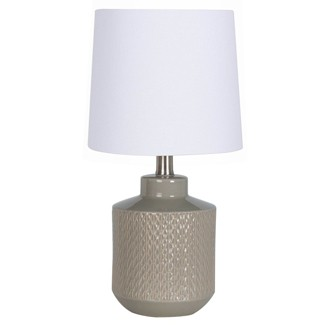 Pattern Ceramic Table Lamp Gray (Lamp Only) - Project 62™