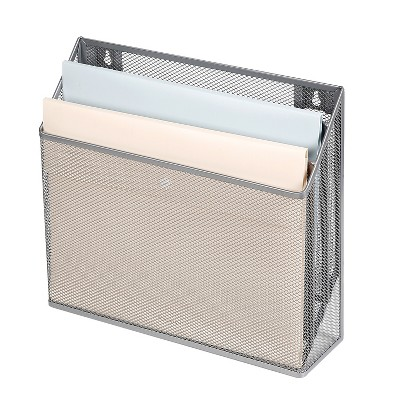 Mesh Hanging File Sorter with Keyholes Silver - Made By Design™