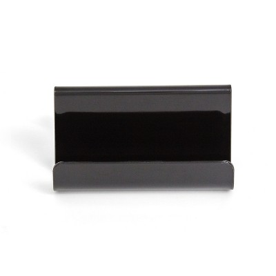 MyOfficeInnovations 2 Compartment Business Card Holder, Blk TR55323 24380806