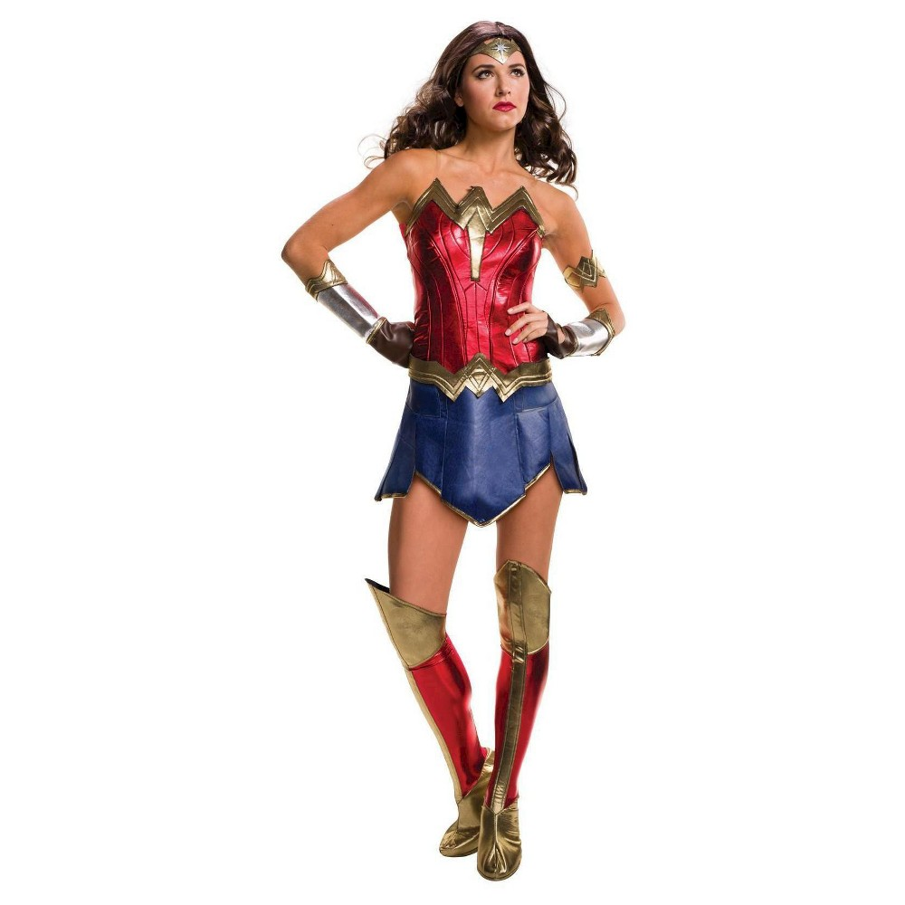 Wonder Woman Women's Costume Justice Costume - Small, Red