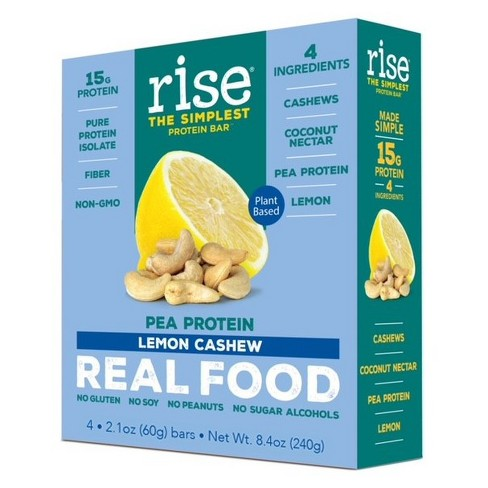 Rise Bar Plant-Protein Bar - Lemon Cashew - 4ct - image 1 of 2