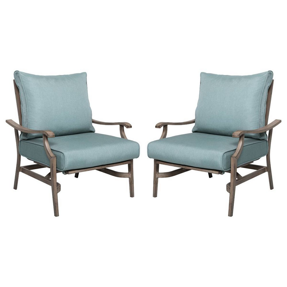 Image of 2pk Aluminum Patio Rocking Chairs - Nuu Garden