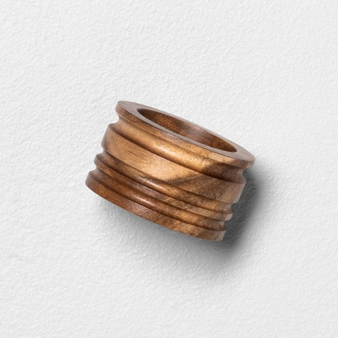 4pc Wooden Napkin Ring Set Hearth Hand With Magnolia Target