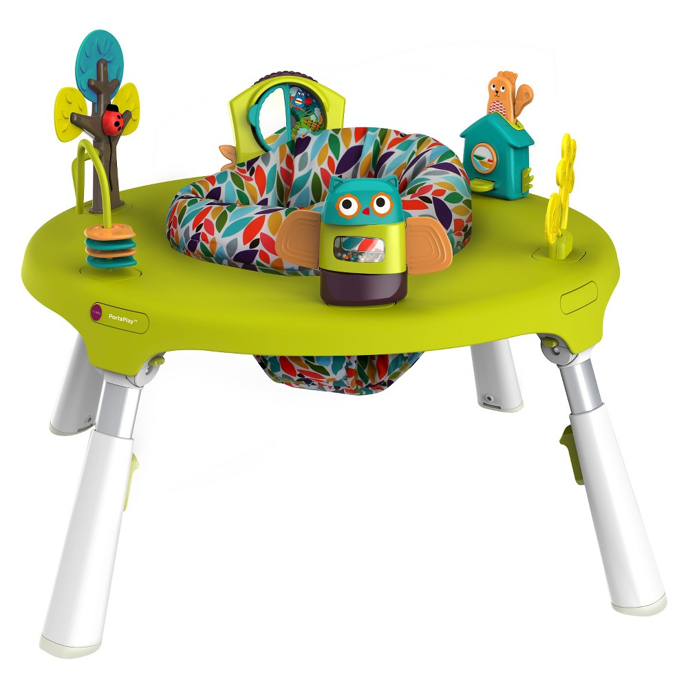 Image of Oribel PortaPlay 4 in 1 Foldable Activity Center – Forest Friends, Green