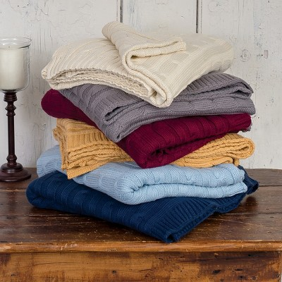 C&F Home Camel Cable Knit Woven Throw : Target