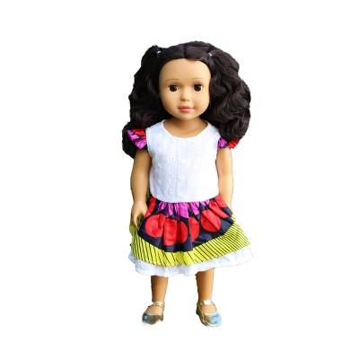 "Ikuzi Dolls Black Wavy Hair 18"" Fashion Doll"