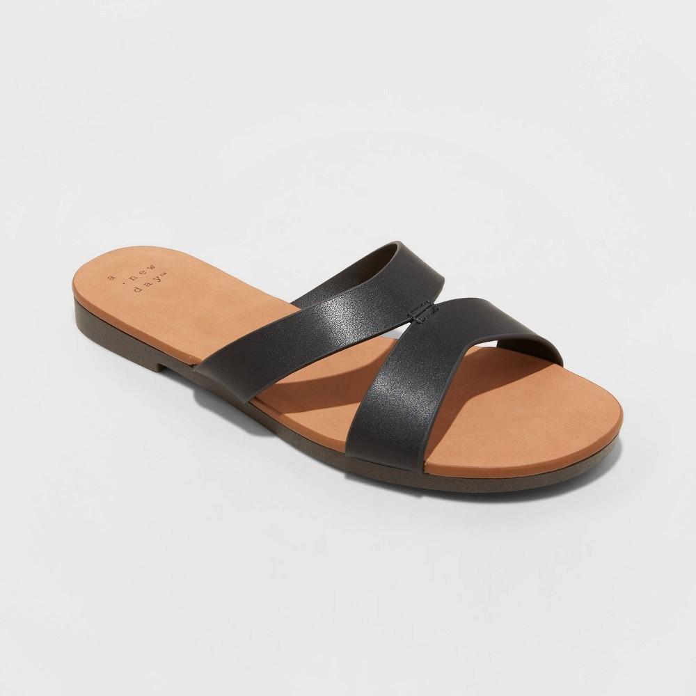 Women 39 S Catie Slide Sandals A New Day 8482 Black 7 5