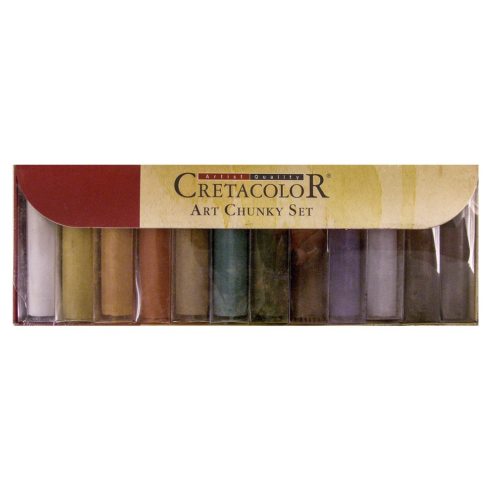 Image of Art Chunky Charcoal Set Multicolor 12ct - Cretacolor