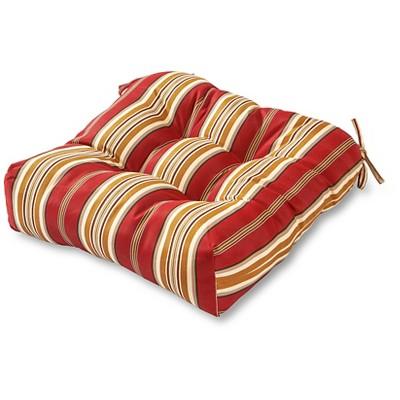 Roma Stripe Outdoor Seat Cushion - Kensington Garden