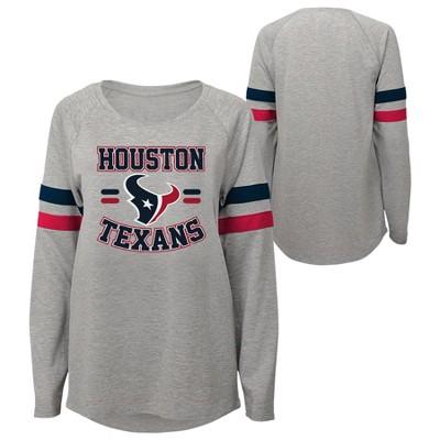 NFL Houston Texans Girls' Long Sleeve Fashion T-Shirt
