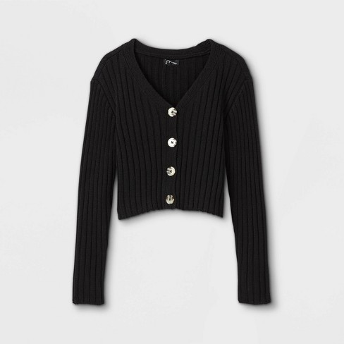 Girls' Cropped Button-Front Cardigan - art class™ - image 1 of 2
