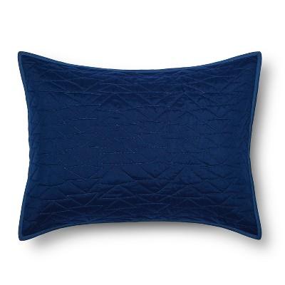 Triangle Stitch Pillow Sham (Standard)Blue - Pillowfort™