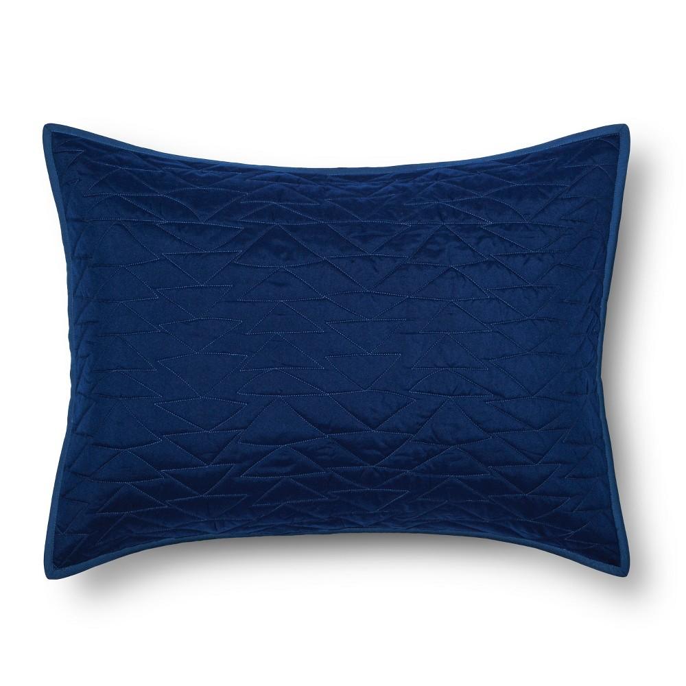 Triangle Stitch Pillow Sham (Standard) Blue - Pillowfort