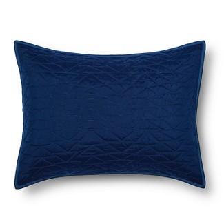 Triangle Stitch Pillow Sham (Standard) Blue - Pillowfort™