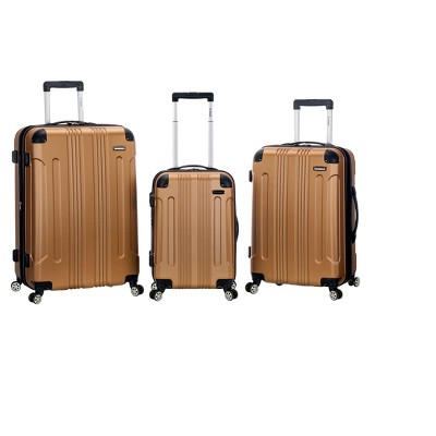 Rockland Sonic 3pc ABS Upright Luggage Set - Gold
