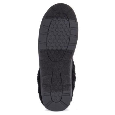Women's MUK LUKS Faux Suede Clogs - Black S(5-6), Size: Small (5-6)