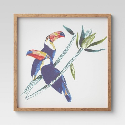 """20"""" x 20"""" Toucans Framed Printed Canvas - Threshold™"""