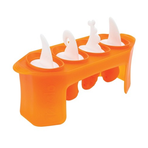 Tovolo Dino Pop Molds (Set of 4) Orange Peel - image 1 of 4