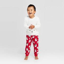 Toddler Holiday Llama Pajama Set - Wondershop™ White