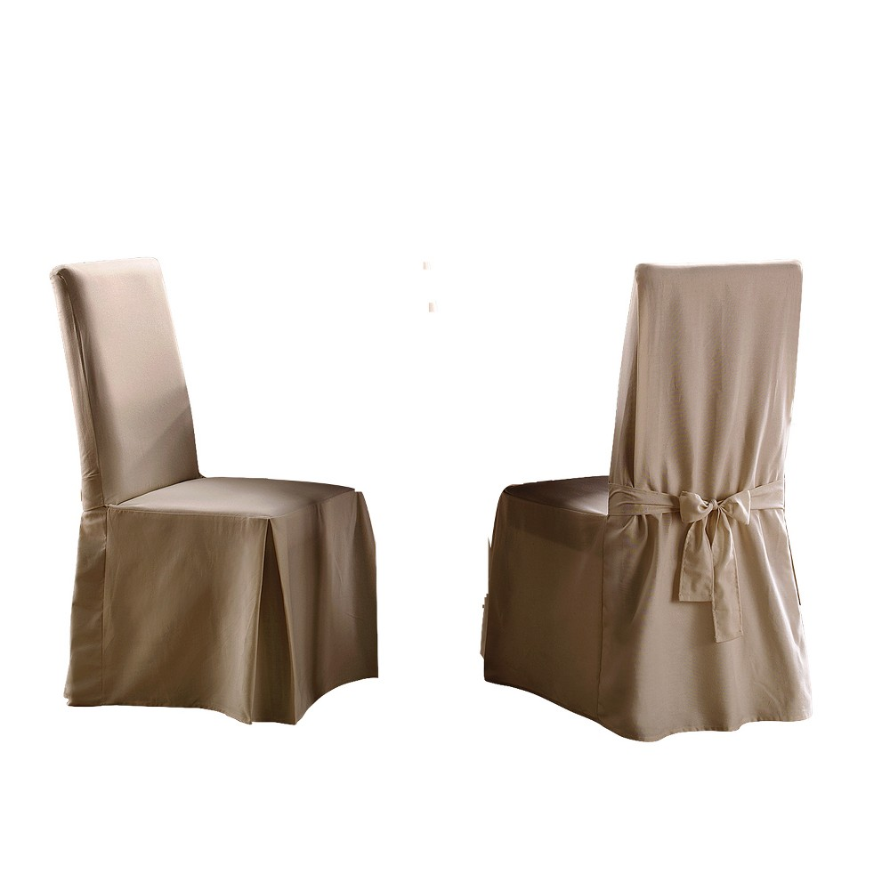 Cotton Duck Dining Room Chair Slipcover Natural - Sure Fit