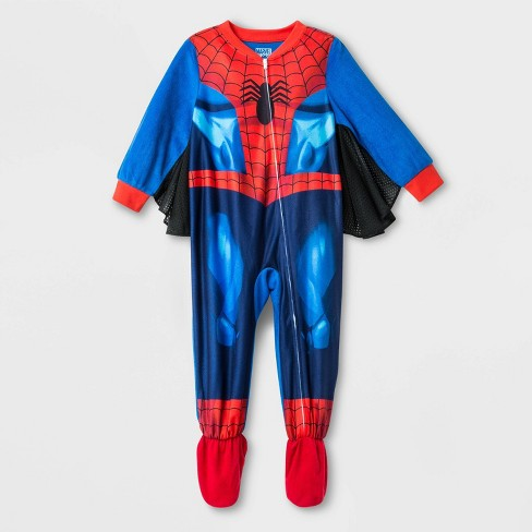 Toddler Boys' Marvel Spider-Man Footed Pajama - Blue - image 1 of 1