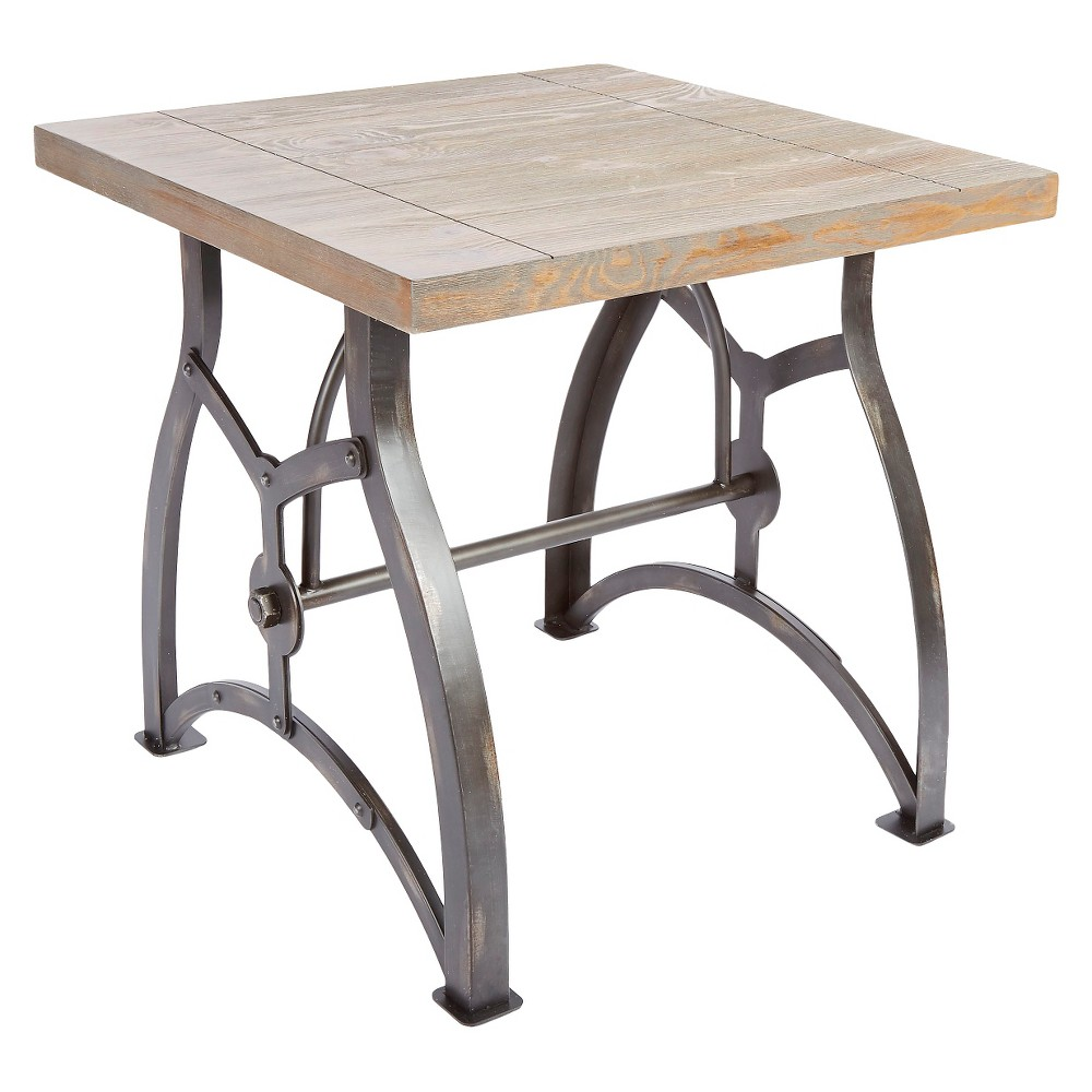Beckett Industrial End Table - Brown - Silverwood