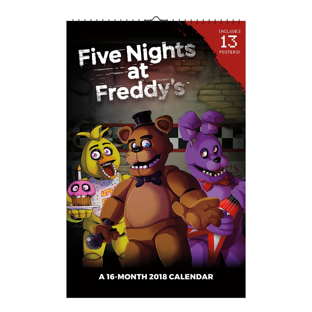 2018 Five Nights at Freddy's Oversized Wall Calendar - Trends International, Multi-Colored