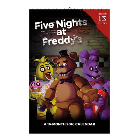 2018 Five Nights at Freddy's Oversized Wall Calendar - Trends International - image 1 of 4