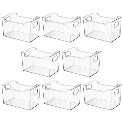 mDesign Plastic Storage Bin for Art and Craft Supplies, 8 Pack - Clear