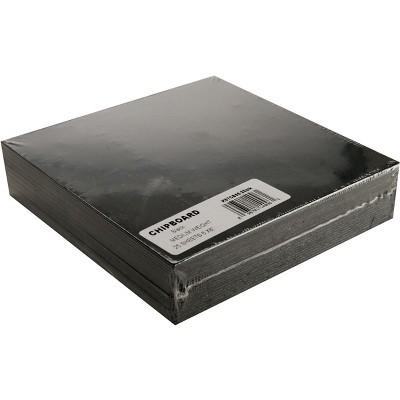 "Grafix Medium Weight Chipboard Sheets 6""X6"" 25/Pkg-Black"
