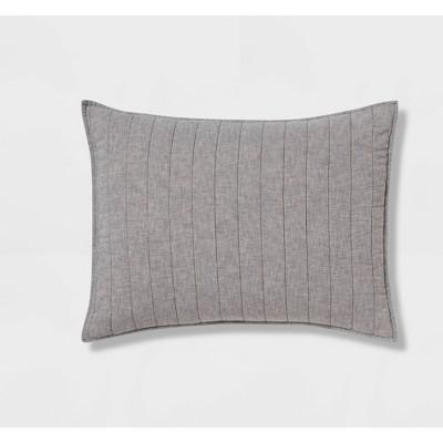 Gray Chambray Linen Blend Sham (King)- Threshold™