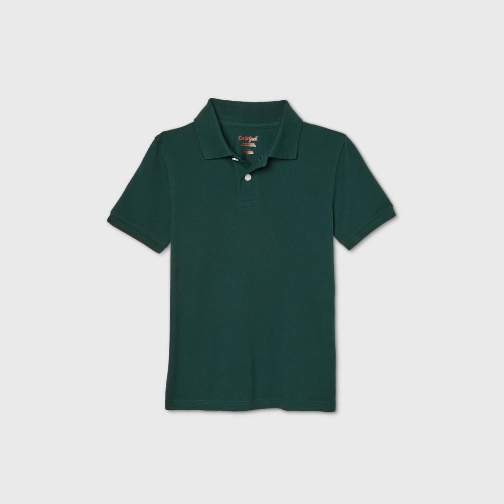 Boys 39 Short Sleeve Stretch Pique Uniform Polo Shirt Cat 38 Jack 8482 Dark Green S