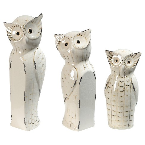 Owls - Set of 3 - A&B Home - image 1 of 3