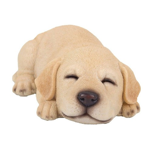 "2.5"" Polyresin Sleepy Labrador Puppy Statue Brown - Hi-Line Gift - image 1 of 3"