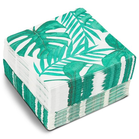 Blue Panda 150 Pack Tropical Palm Leaves Disposable Luncheon Paper Napkins Party Supplies 6 5 Target