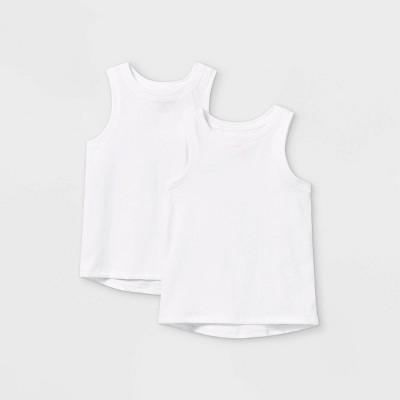 Toddler Girls' 2pk Tank Top - Cat & Jack™ White